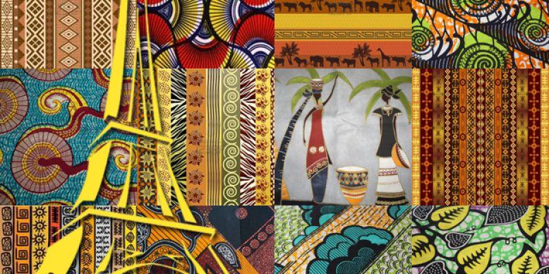 tissu africain chateau d'eau