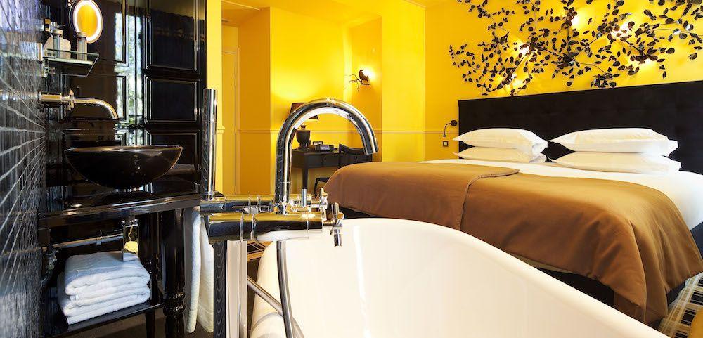 Chambre Forêt enchantée jaune